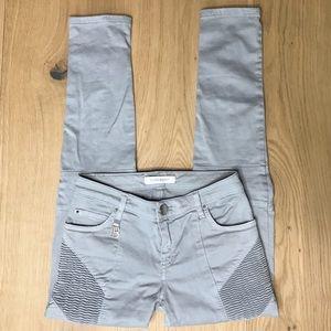 Pierre Balmain grey moto jeans - size 24